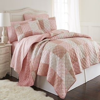 Micro Flannel Enchantment Patchwork Quilt Set