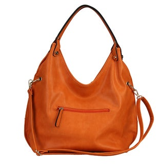 Diophy Shopper Stitched Design Slouchy Hobo Shoulder Bag