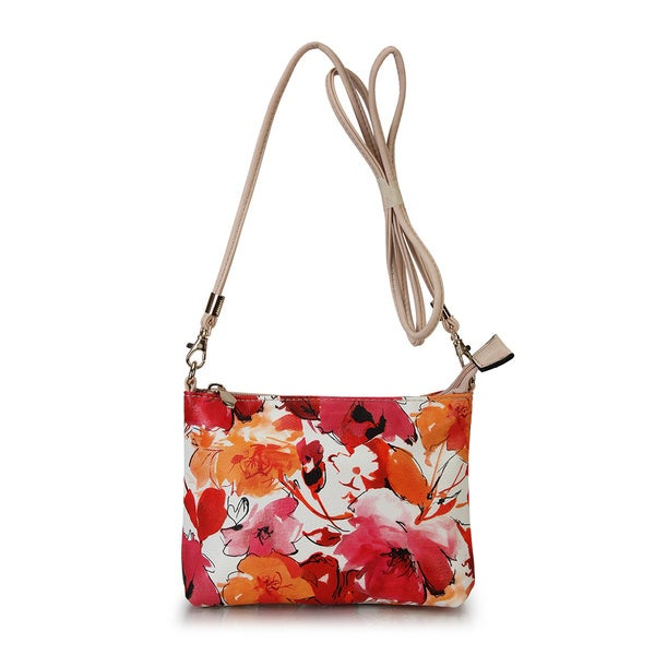 Diophy Clutch Small Tropical Floral Print Crossbody Bag