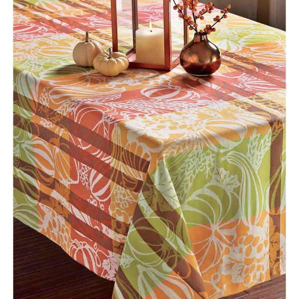 TAG Harvest Jacquard Tablecloth, 60x84 inch