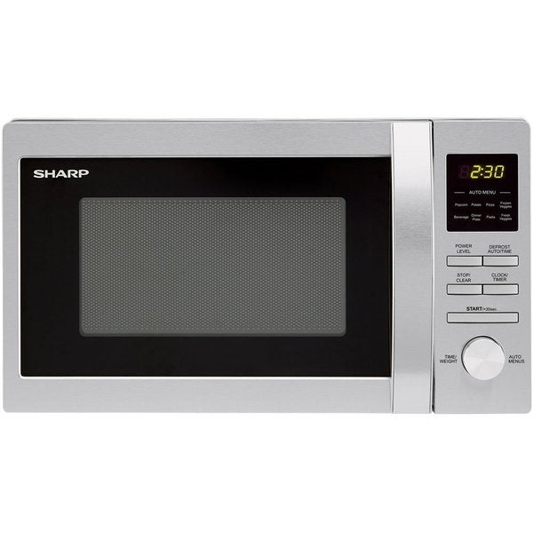 Sharp R228BS 0.7 Cubic Feet Stainless Steel Countertop Microwave Oven, 700-watt- Refurbished