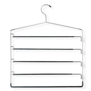 Honey Can Do Chrome/Black 5-tier Swinging Arm Pant Rack 2-pack