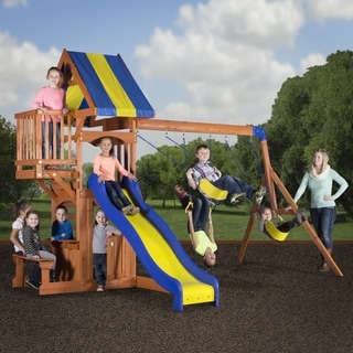 Backyard Discovery Peninsula All Cedar Swingset