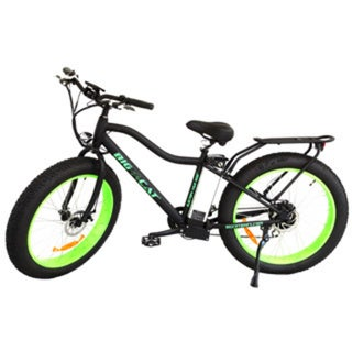 Fat Cat X Black/ Green Electric Bicycle