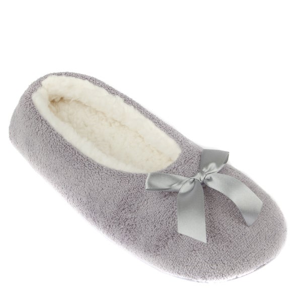 Leisureland Women's Fleece Lined Cozy Slippers Solid Color in S/M size (As Is Item)
