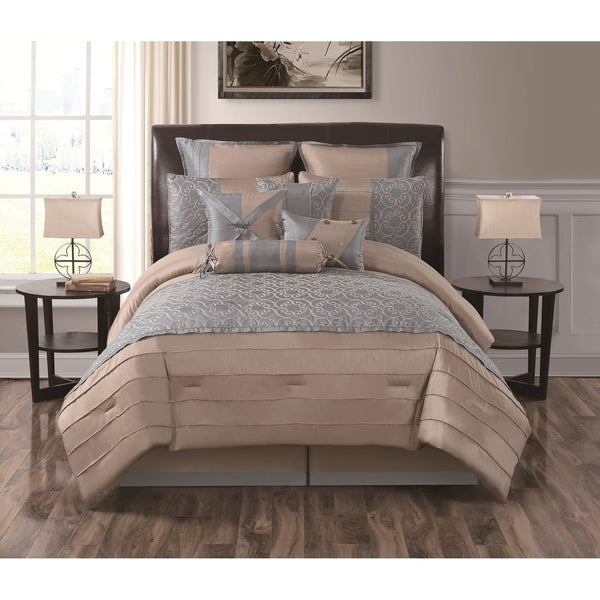 Stonegate 10-piece Embroidered Comforter Set (Queen)(As Is Item)