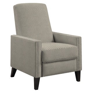 angelo:HOME Lana Modern Cream and Chocolate Brown Deco Push Back Recliner