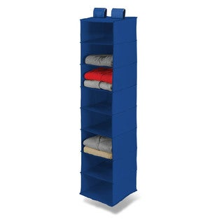 8 shelf hanging organizer, polyester, navy