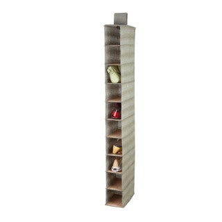10-shelf Bamboo/ Moss Shoe Organizer
