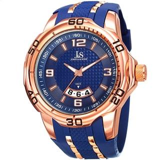 Joshua & Sons Men's Swiss Quartz Date Strap Watch