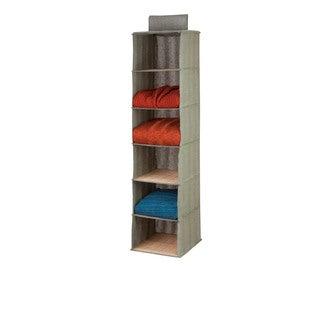 Bamboo/ Moss 6-shelf Hanging Organizer