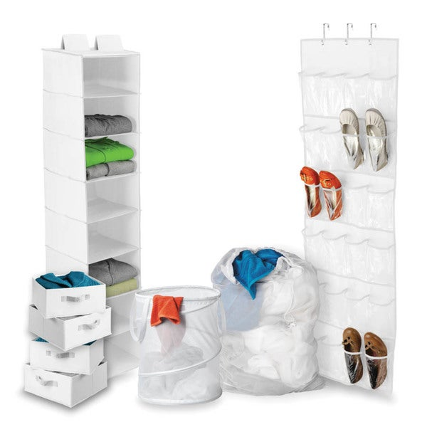 Back to School White Home Organization Kit