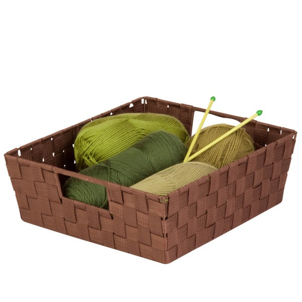 2-pc woven trays, chocolate