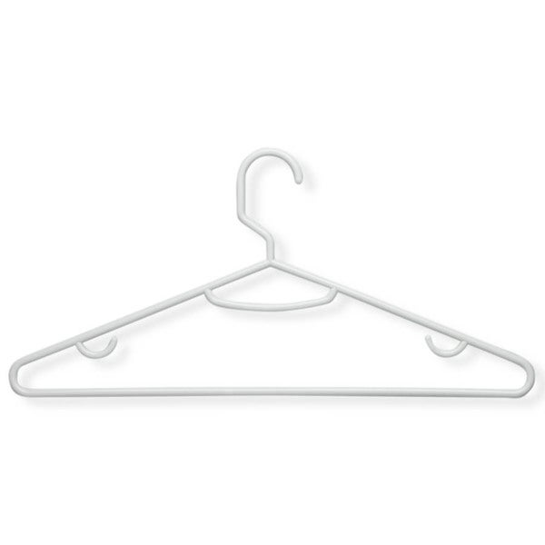 Honey Can Do Recycled White Lightweight Tubular Hanger 60-pack