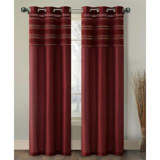 VCNY Wakefield Lined Chenille and Faux Silk Curtain Panel