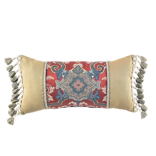 Croscill Home Orleans Yellow/ Red Boudoir Pillow