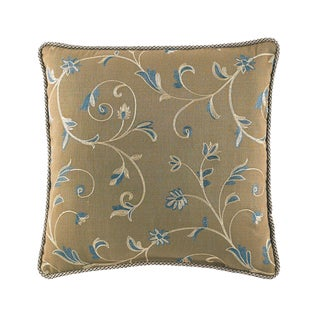 Croscill Orleans Yellow Floral Fashion 18-inch Throw Pillow