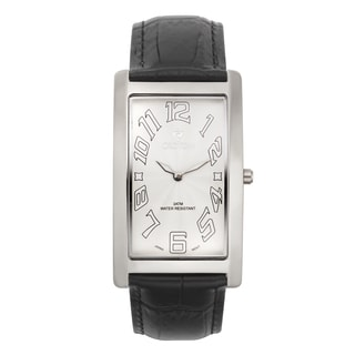 Croton Men's CN307533BSWH Stainless Steel White White Rectangular Watch