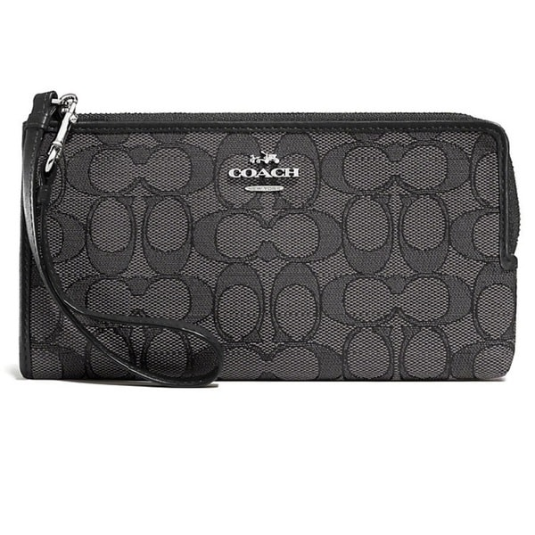 Coach Signature Zip Wallet