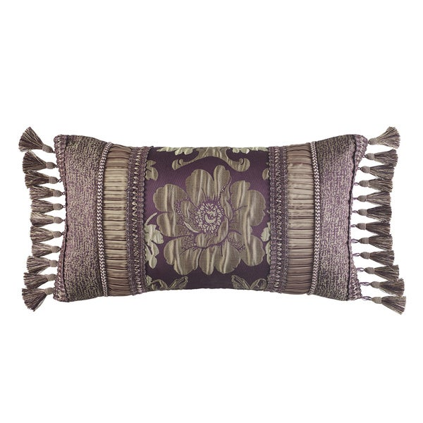 Croscill Home Everly Plum and Gold Boudoir Pillow