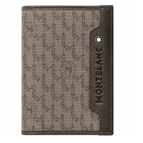 Montblanc Signature Business Card Holder - Stone/Brown
