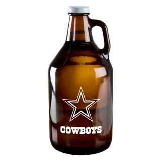 Dallas Cowboys 64-Ounce Amber Glass Growler