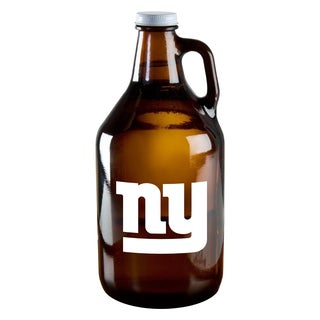 New York Giants 64-Ounce Amber Glass Growler
