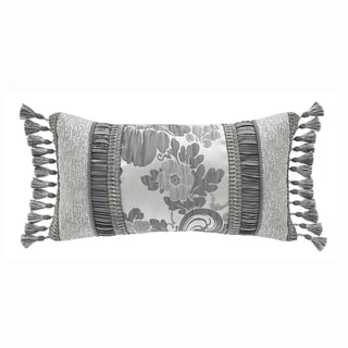 Croscill Home Everly Ivory and Platinum Boudoir Pillow