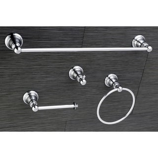 Classic Polished Chrome 4-piece Bathroom Accessory Set