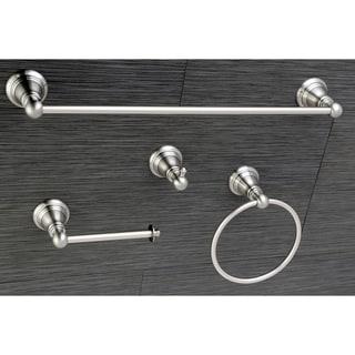 Classic Satin Nickel 4-piece Bathroom Accessory Set