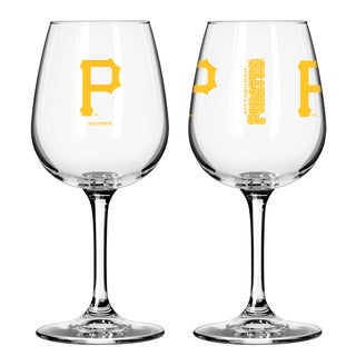 Pittsburgh Pirates 12-ounce Wine Glass Set