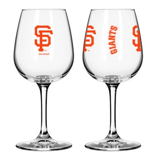 San Francisco Giants 12-ounce Wine Glass Set