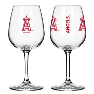 Los Angeles Angels 12-ounce Wine Glass Set