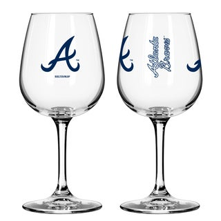 Atlanta Braves 12-ounce Wine Glass Set