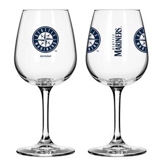 Seattle Mariners 12-ounce Wine Glass Set