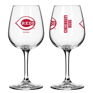 Cincinnati Reds 12-ounce Wine Glass Set