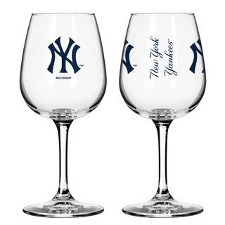 New York Yankees 12-ounce Wine Glass Set