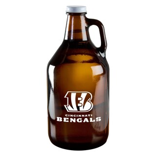 Cincinnati Bengals 64-Ounce Amber Glass Growler