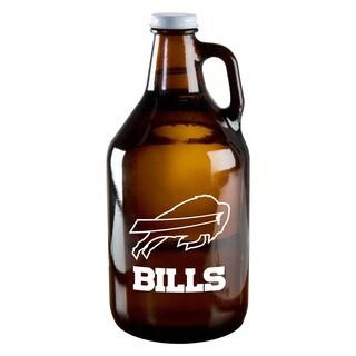 Buffalo Bills 64-Ounce Amber Glass Growler