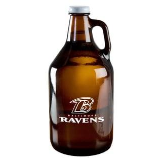 Baltimore Ravens 64-Ounce Amber Glass Growler