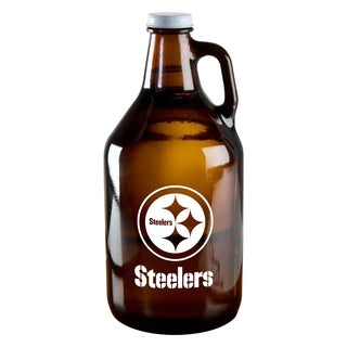 Pittsburgh Steelers 64-Ounce Amber Glass Growler