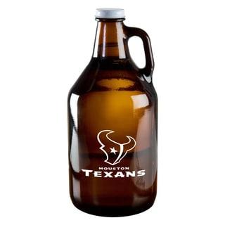 Houston Texans 64-Ounce Amber Glass Growler