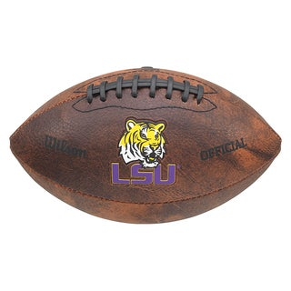 Wilson NCAA LSU Tiger 9-inch Composite Leather Football