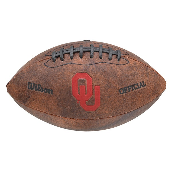 Wilson NCAA Oklahoma Sooners 9-inch Leather Football 16585390
