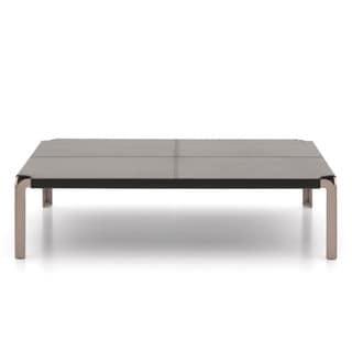 Argo Furniture Trani Leather Top Coffee Table
