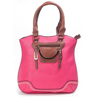 Adeco Women's Faux Leather Hobo Handbag
