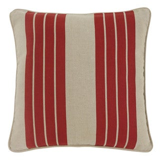 Signature Design by Ashley Striped Red 18-inch Pillow Cover