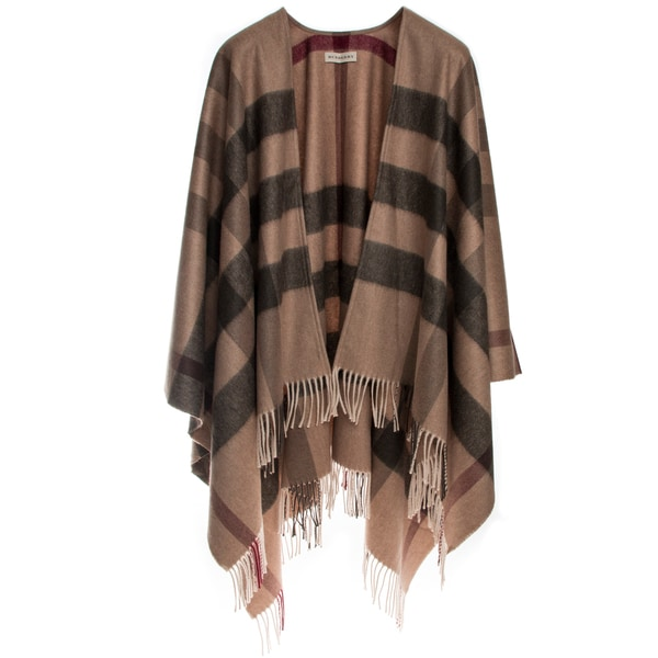 Burberry Check Merino Wool Cashmere Wrap