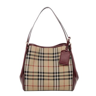 Burberry Small Canter in Horseferry Check and Leather