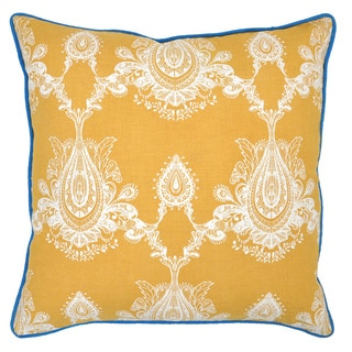 Cece Linen Blend Gold 22-inch Throw Pillow